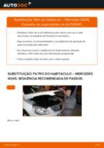 Como mudar filtro habitáculo em Mercedes W245 - guia de substituição