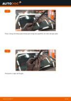 Como mudar escovas do limpa vidros da parte dianteira em Mercedes W245 - guia de substituição
