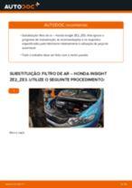 Recomendações do mecânico de automóveis sobre a substituição de HONDA Honda Insight ZE2/ZE3 1.3 Hybrid (ZE2) Filtro do Habitáculo