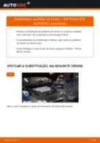 Como mudar pastilhas de travão da parte traseira em VW Passat 3C B6 Variant - guia de substituição