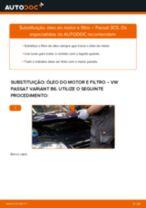 Como mudar óleo do motor e filtro em VW Passat 3C B6 Variant - guia de substituição