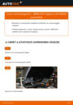 Üzemanyagszűrő-csere BMW E39 gépkocsin – Útmutató