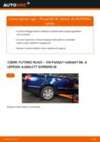 Hátsó futómű rugó-csere VW Passat 3C B6 Variant gépkocsin – Útmutató