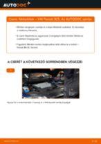 Hátsó fékbetétek-csere VW Passat 3C B6 Variant gépkocsin – Útmutató