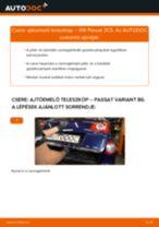 Hogyan cseréje és állítsuk be Csomagtartó gázrugó VW PASSAT: pdf útmutató