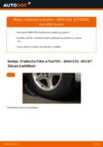 Mainīties BMW 5 (E39) Savienotājstienis - soli-pa-solim pamācības PDF