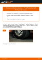 Kā nomainīt un noregulēt Savienotājstienis FORD FIESTA: pdf ceļvedis
