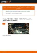 Kā nomainīt: aizdedzes sveces Ford Fiesta V JH JD - nomaiņas ceļvedis