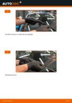 Nomaiņai Stikla tīrītāja slotiņa HONDA Honda CR-V II 2.2 CTDi (RD9) - remonta instrukcijas