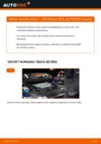 Kā nomainīt: aizmugures bremžu klučus VW Passat 3C B6 Variant - nomaiņas ceļvedis