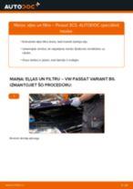 Kā nomainīt: eļļas un filtru VW Passat 3C B6 Variant - nomaiņas ceļvedis