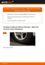 Kaip pakeisti BMW E39 stabilizatoriaus traukės: priekis - keitimo instrukcija