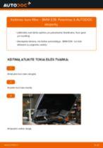 Kaip pakeisti BMW E39 kuro filtro - keitimo instrukcija