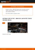 Kaip pakeisti BMW E39 oro filtro - keitimo instrukcija