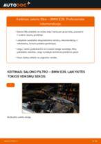Kaip pakeisti BMW E39 salono filtro - keitimo instrukcija
