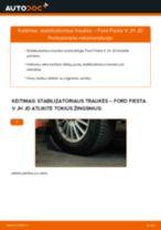 Kaip pakeisti ir sureguliuoti Pasukimo trauklė FORD FIESTA: pdf pamokomis