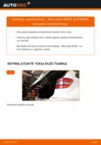 Kaip pakeisti Mercedes W245 amortizatorių: galas - keitimo instrukcija