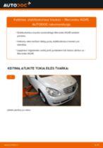 Kaip pakeisti Mercedes W245 stabilizatoriaus traukės: priekis - keitimo instrukcija