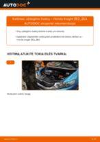Automechanikų rekomendacijos HONDA Honda Insight ZE2/ZE3 1.3 Hybrid (ZE2) Stabdžių Kaladėlės keitimui