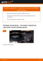 Kaip pakeisti gale ir priekyje Spyruoklės VW PASSAT Variant (3C5) - instrukcijos internetinės