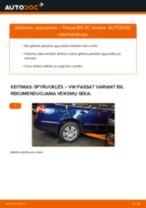 Kaip pakeisti VW Passat 3C B6 Variant spyruoklės: galas - keitimo instrukcija