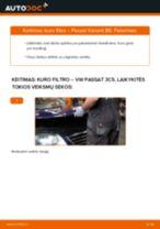 Pakeisti Valytuvo Svirtis VW PASSAT: instrukcija