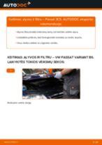 Kaip pakeisti VW Passat 3C B6 Variant variklio alyvos ir alyvos filtra - keitimo instrukcija