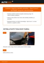 OPEL gale ir priekyje Stabdžių trinkelių komplektas keitimas pasidaryk pats - internetinės instrukcijos pdf