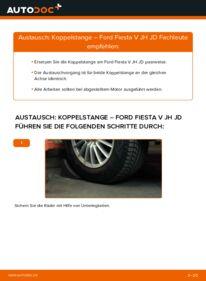 Wie der Wechsel durchführt wird: Koppelstange 1.4 TDCi Ford Fiesta Mk5 tauschen