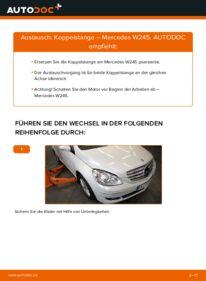 Wie der Wechsel durchführt wird: Koppelstange B 180 CDI 2.0 (245.207) Mercedes W245 tauschen