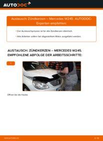 Wie der Wechsel durchführt wird: Zündkerzen B 180 CDI 2.0 (245.207) Mercedes W245 tauschen