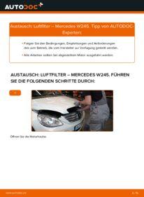Wie der Wechsel durchführt wird: Luftfilter B 180 CDI 2.0 (245.207) Mercedes W245 tauschen