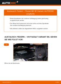 Wie der Wechsel durchführt wird: Federn 2.0 TDI Passat B6 Variant tauschen