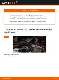 Wie der Wechsel durchführt wird: Luftfilter 523i 2.5 BMW E39 tauschen