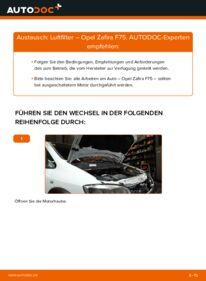 Wie der Wechsel durchführt wird: Luftfilter 2.0 DTI 16V (F75) Opel Zafira A tauschen