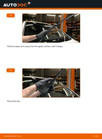 How to carry out replacement: Wiper Blades on 2.0 DTI 16V (F75) Opel Zafira f75