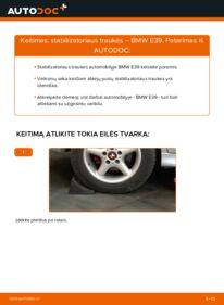 Kaip atlikti keitimą: 523i 2.5 BMW E39 Pasukimo trauklė