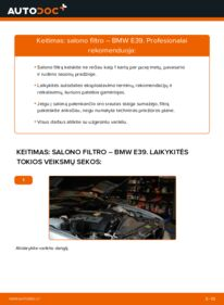 Kaip atlikti keitimą: 523i 2.5 BMW E39 Oro filtras, keleivio vieta