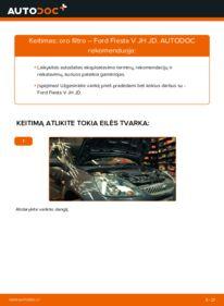 Kaip atlikti keitimą: 1.4 TDCi Ford Fiesta Mk5 Oro filtras