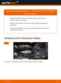 Kaip atlikti keitimą: 2.0 TDI Passat B6 Stabdžių Kaladėlės