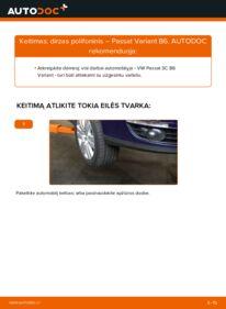 Kaip atlikti keitimą: 2.0 TDI Passat B6 V formos rumbuotas diržas