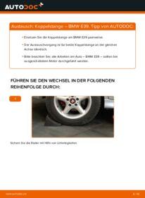 Wie der Wechsel durchführt wird: Koppelstange 523i 2.5 BMW E39 tauschen
