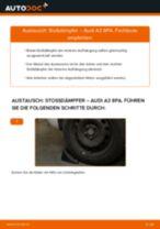 Einbau von Stoßdämpfer Satz beim AUDI A3 Sportback (8PA) - Schritt für Schritt Anweisung