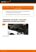 Wanneer Luchtfilter AUDI A3 Sportback (8PA) veranderen: pdf tutorial