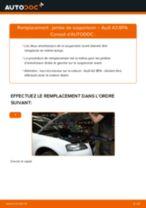 Comment changer : jambe de suspension avant sur Audi A3 8PA - Guide de remplacement