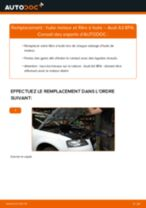 Comment changer : huile moteur et filtre huile sur Audi A3 8PA - Guide de remplacement
