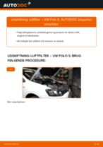 Udskiftning af Luftfilter: pdf vejledning til VW POLO