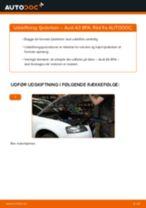 Skifte Støddæmper AUDI A3: værkstedshåndbog