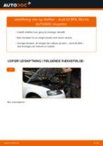 UFI 25.011.00 til A3 Sportback (8PA) | PDF udskiftnings guide