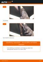 Skift af Bremsebelægning AUDI A3 Sportback (8PA) - trin-for-trin vejledning